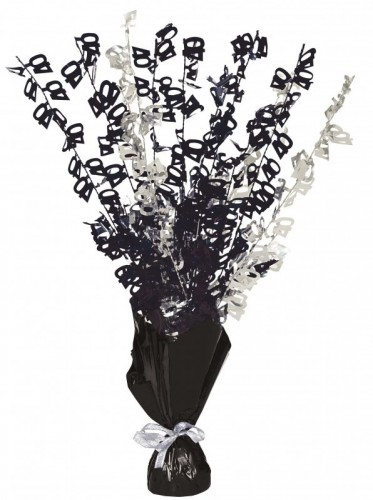 Dazzling Effects 40th Black Foil Centrepiece - Table Decoration (Example Photo)