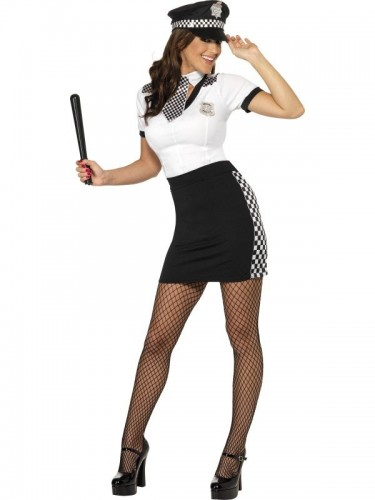 Cop Lady Adult Costume (Example Photo)