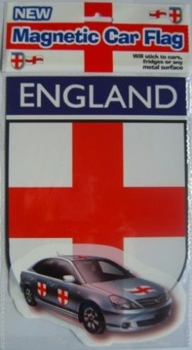 Car Flag St George (England) MAGNETIC   (Example Photo)