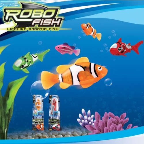Party world robo fish for Robo fish toy