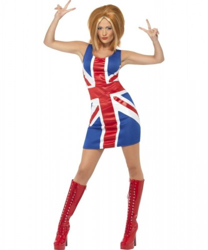 Union Jack Dress | Ginger Spice Girl | Girl Power Adult Costume (Example Photo)