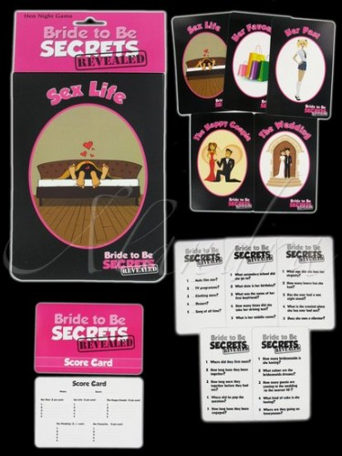 Bride To Be Secrets Revealed Game (Example Photo)