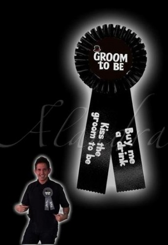 Stag Do Groom Rosette Badge (Example Photo)