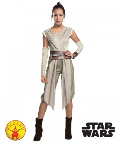 Star Wars Force Awakens Deluxe Rey Costume (Example Photo)