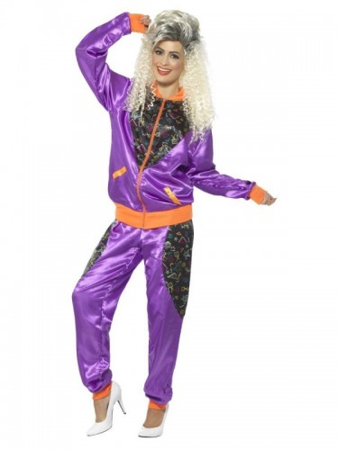 Retro Shell Suit Costume, Ladies (Example Photo)