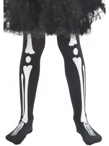 Skeleton Tights, Child (Example Photo)