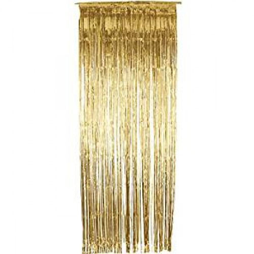 Shimmer Curtain, Metallic Gold (Example Photo)
