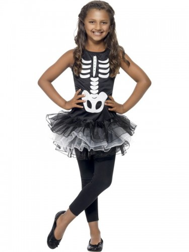Skeleton Tutu Child Costume  (Example Photo)