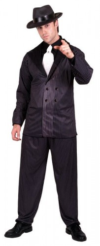 Gangster Adult Costume  (Example Photo)