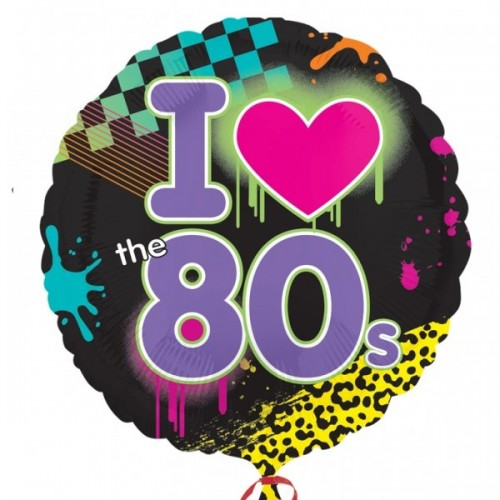 Totally 80`s - Foil Balloons  (Example Photo)