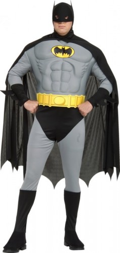 Batman Muscle Chest Adult Costume (Full Cut) | Plus Size (Example Photo)
