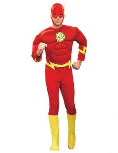 Adult Muscle Chest The Flash Super Hero Costume (Example Photo)