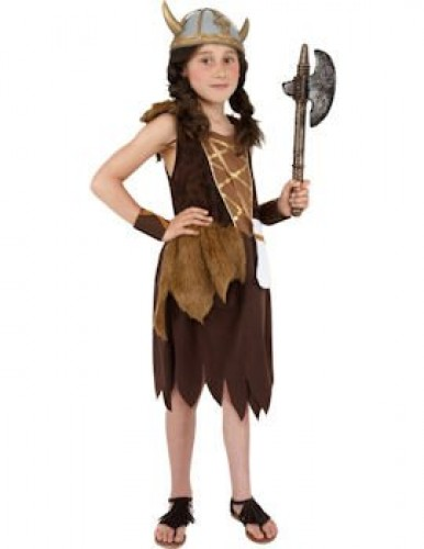 Viking Girl Child Costume  (Example Photo)