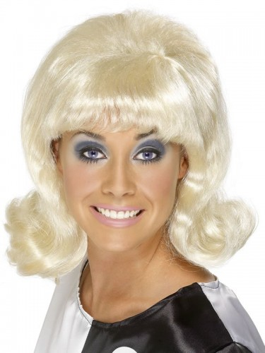 Flick Up 60's Lady Wig Blonde (Example Photo)