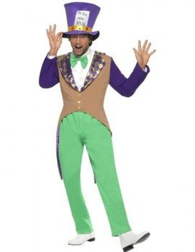 Mad Hatter Adult Costume  (Example Photo)