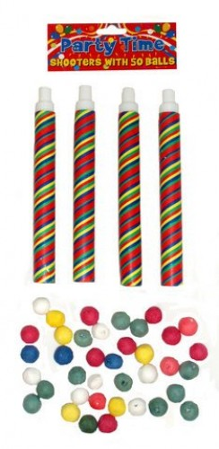 Party Time Shooters | Adult Pea Shooters - LIMITED STOCK! (Example Photo)