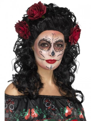 Deluxe Day of the Dead Wig (Example Photo)