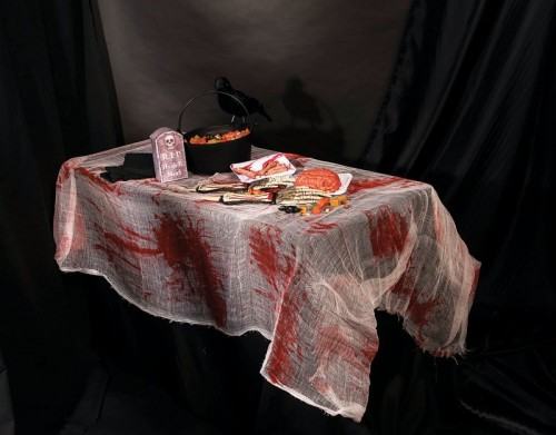 Bloody Gauze Tablecover (Example Photo)
