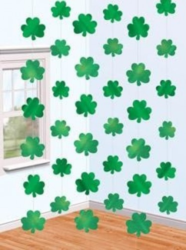 Out of stock - DEC STRING SHAMROCKS PK6 (Example Photo)