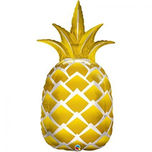 Supershape Golden Pineapple Foil Balloon (44 inch) (Gold)  (Example Photo)