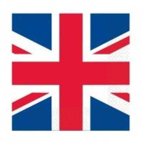 PARTY WORLD SOLD OUT GREAT BRITAIN FLAG LUNCHEON NAPKINS