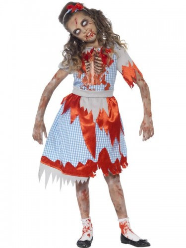 Zombie Country Girl Child Costume  (Example Photo)