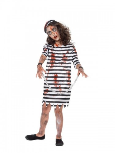 Zombie Convict Child Girl's Costume  (Example Photo)