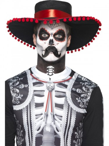Day of the Dead Señor Bones Make-Up Kit (Example Photo)