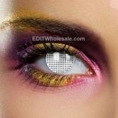 White Mesh Contact Lenses (Pair)