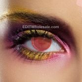 Red Mesh Contact Lenses (Pair)