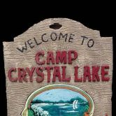 Scene Setter Sign Jason 3D Camp Crystal Lake Sign