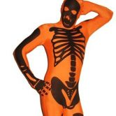 Expecting delivery Morphsuit Skeleton Orange - Adult Costume