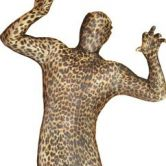 Expecting delivery Morphsuit Leopard - Adult Costume
