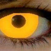 Orange UV fashion lenses
