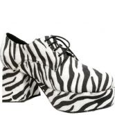 Pimp Male Shoes Black White Zebra |60400