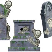 Skull & Tomb Assorted Cutouts Cemetery Terror