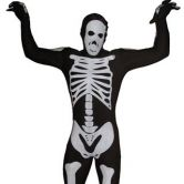 Expecting delivery Morphsuit Skeleton Black - Adult Costume
