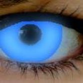 Blue UV fashion lenses.