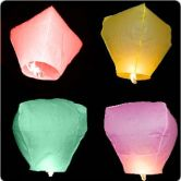 Sky Lanterns 5 Pack Multi Coloured